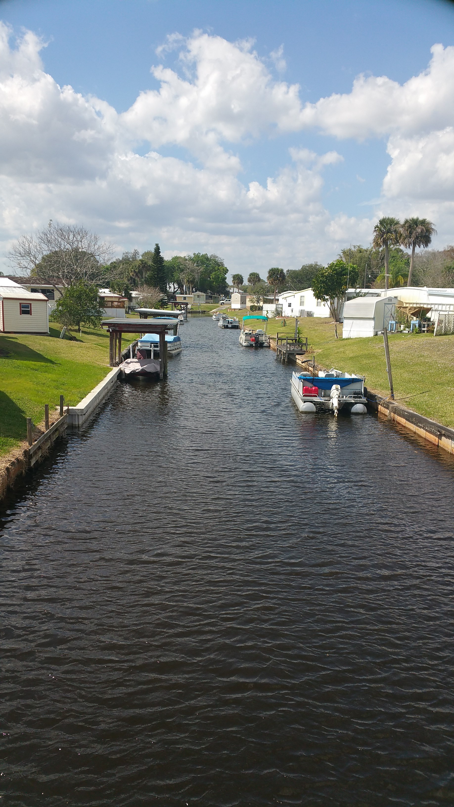 Our Private Canal Open Riverbend Mobile Home And RV Park